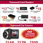 Transcend Card Reader, Car Camera USB 3.0, OTG, DrivePro 100, 200, 220