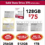 Transcend SSG 370 SATA III 6GBs 12GB, 256GB, 512GB, 1TB