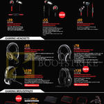 Gaming Earphones, Headsets, Mousepads, Cooler Master Pitch, Pitch Pro, Resonar, Ceres-300, 500, Master Sirus C, Master Pulse-R, Control-RX, Power-RX, Speed RX