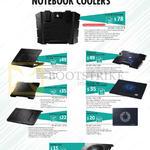 Notebook Coolers SF-15 WUSB2.0HUB, Notepal Ergostand Lite, X3, X-Lite, I300, L1, L100, CMC3