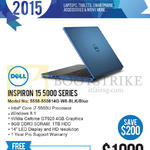 Newstead Inspiron 15 5000 Series 5558-550814G-W8-BLK Blue