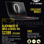 Newstead Notebook Alienware 15 AW15-471814G-W8