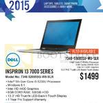 Newstead Notebook Inspiron 13 7000 Series 7348-52085SG-W8-SLR, 7348-55085SG-W8-SLR