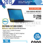 Newstead Notebook Inspiron 14 5000 Series 5448-451812G-W8 Red, Silver