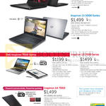 Notebooks Inspiron 14 3000, 15 5000, 13 7000, 14 7000 Series
