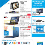 Notebooks, Complimentary Gifts, Purchase With Purchase, Inspiron 11 3000 3147-N35445SG-W8-SLR, 14 5000 5458-550452GBDW-W8, 15 5558-550814GBDW-W8-BLU-BLK-0365