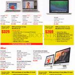 Apple Notebooks, Desktop PCs MacBook Air 11-inch, 13-inch, MacBook Pro 13-inch, IMac 21.5-inch, 27-inch, 27-inch Retina 5K Display
