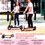 Falcon P.E.V Electric Scooter Inokim Quick 2 Electric Scooter Features