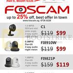 IP Cameras IPCam C1, FI8910W, FI9821P, FI9826P