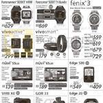 GPS Navigators, Fitness Watches, Car Cameras, Forerunner 220 HRM, 225, 620 HRM, 920XT, 920XT, Fenix 3, Vivoactive, Vivosmart, Nuvi 55LM 65LM, Edge 520 20, Vibr XE, GDR 33