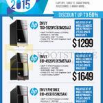 Newstead Desktop PCs Envy 700-592DPC K5M26AA, Envy 810-492DPC K5M87AA, Pheonix 810-493D K5M25AA
