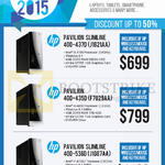 Newstead Desktop PCs Pavilion Slimline 400-437D J1G21AA, 400-435D F7G29AA, 400-536D J1G87AA