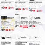 Networking 3G 4G Dongles E3331, E8278, E5151, E5377, B593, WS323, WS330, WS880, WS151