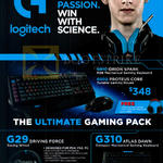 Gaming Keyboard, Mouse, Racing Wheel, G910, G502, G29, G310