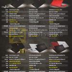 Notebooks GS60 60E Ghost Pro-005SG, GS60 2QD Ghost-438SG, GS60 2QD Ghost Red Edition-479SG, GS60 2QE Ghost Pro-408SG, GS70 2QD Stealth-460SG, 462SG