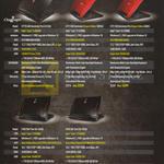 Notebooks GT72S 60E Dominator Pro G-014SG, GT72 2QD Dominator Dragon Edition 1005SG, GT72 2QE Dominator Pro Dragon Edition-848SG, GT80 2QD Titan SLi-406SG