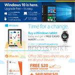 Windows 10, Free Casio Watch, Office 365, Free 20 Dollar Crocs Voucher