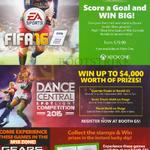 Xbox One Dance Central Spotlight, Mortal Kombat X, Mad Max, Gears Of War, Kinect Sports Rivals, Fifa 15, Batman Arkham Knight, Lego Jurassic World, Tryouts