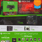 Xbox One Gears Of War Ultimate Edition Bundle, Halo Console With Kinect, Console Halo The Master Chef Collection Bundle, Kinect Assassins Creed Unity Bundle, Games