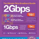 2Gbps 59.99, 1Gbps 34.99 Fibre Broadband Bundles