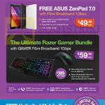 Fibre Broadband 1Gbps 49.99 Free Asus Zenpad 7.0, Ultimate Razer Gamer Bundle, Free Unlimited Mobile Data