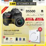 Digital Camera DSLR D5500, Free Air Purifier