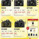 Digital Cameras DSLR D610, D7200, D7100, D5300, D3300, Free Gifts