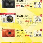 Digital Cameras, 1 J5, 1 AW1, 1 J4