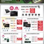 SSD 850 EVO, PRO Series, Portable SSD T1, 500GB, 1TB, 120GB, 250GB, 2TB, 128GB, 256GB, 512GB, 850 EVO MSATA Series, 850 EVO M.2 Series