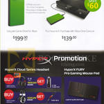 Kingston Game Drive For Xbox One, HyperX Cloud Series Headset, HyperX Fury Pro Gaming Mouse Pad