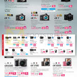 Digital Cameras Alpha ILCE A7R, A7II, A7S, A7R, A7, A6000, A5100, A5000, Lenses Zoom Fixed Focal Macro Flashes