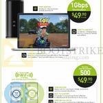 Broadband, Free 100 Dollar Shopping Voucher, 1Gbps 49.90 Per Month, Dual Broadband 500 49.90 Per Mth