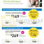 Business 100Mbps Dynamic Fibre Broadband, 20Mbps Static Fibre Broadband