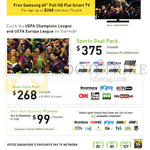 Business TV 375.00 Sports Goal Pack, 268 News Value Pack, 99.00 Best Value Business TV Promo
