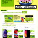 Mobile Prepaid Golden Number Pack, Prepaid, Mobile Phones Huawei Honor 3C, Oppo Joy, Leagoo Lead 5