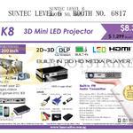 Innovative K8 3D Mini LED Projector