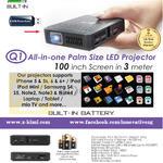 Q1 AIO Palm Size LED Projecter