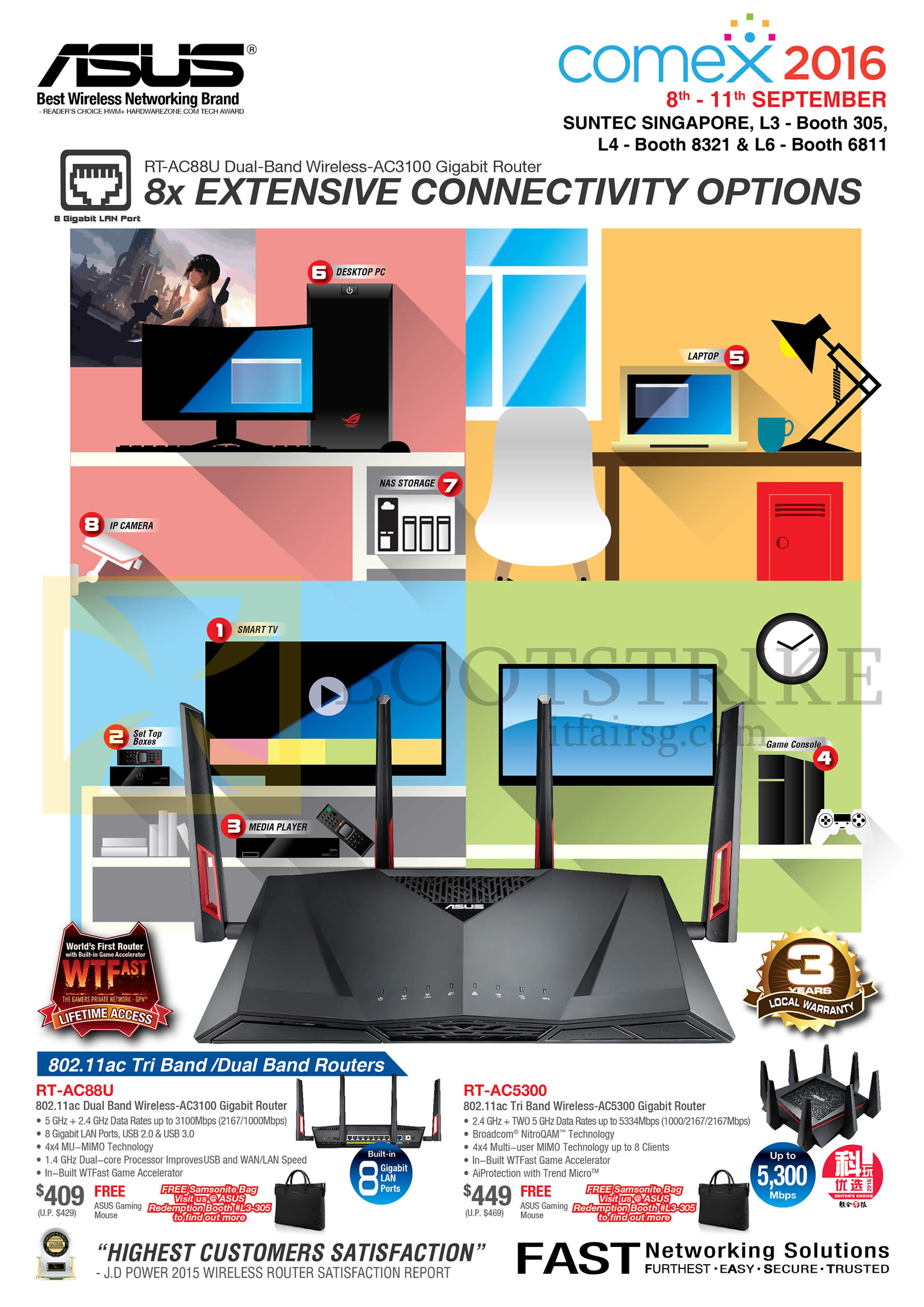 COMEX 2016 price list image brochure of ASUS Networking Wireless Routers RT-AC88U, RT-AC5300