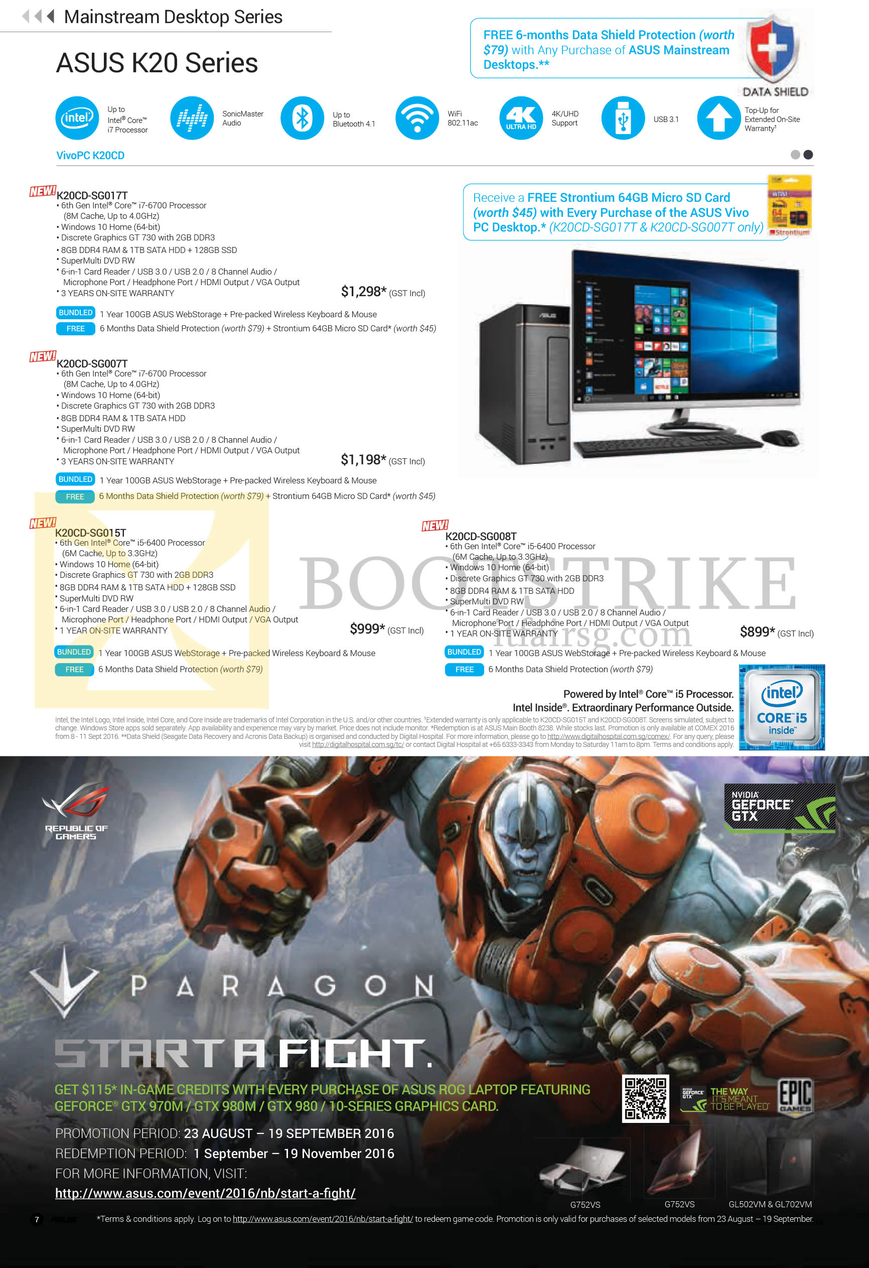 COMEX 2016 price list image brochure of ASUS Notebooks K20 Series K20CD