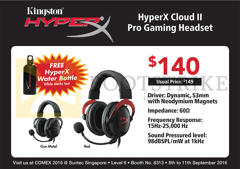COMEX 2016 price list image brochure of Convergent Kingston HyperX Headset Cloud II Pro Gaming