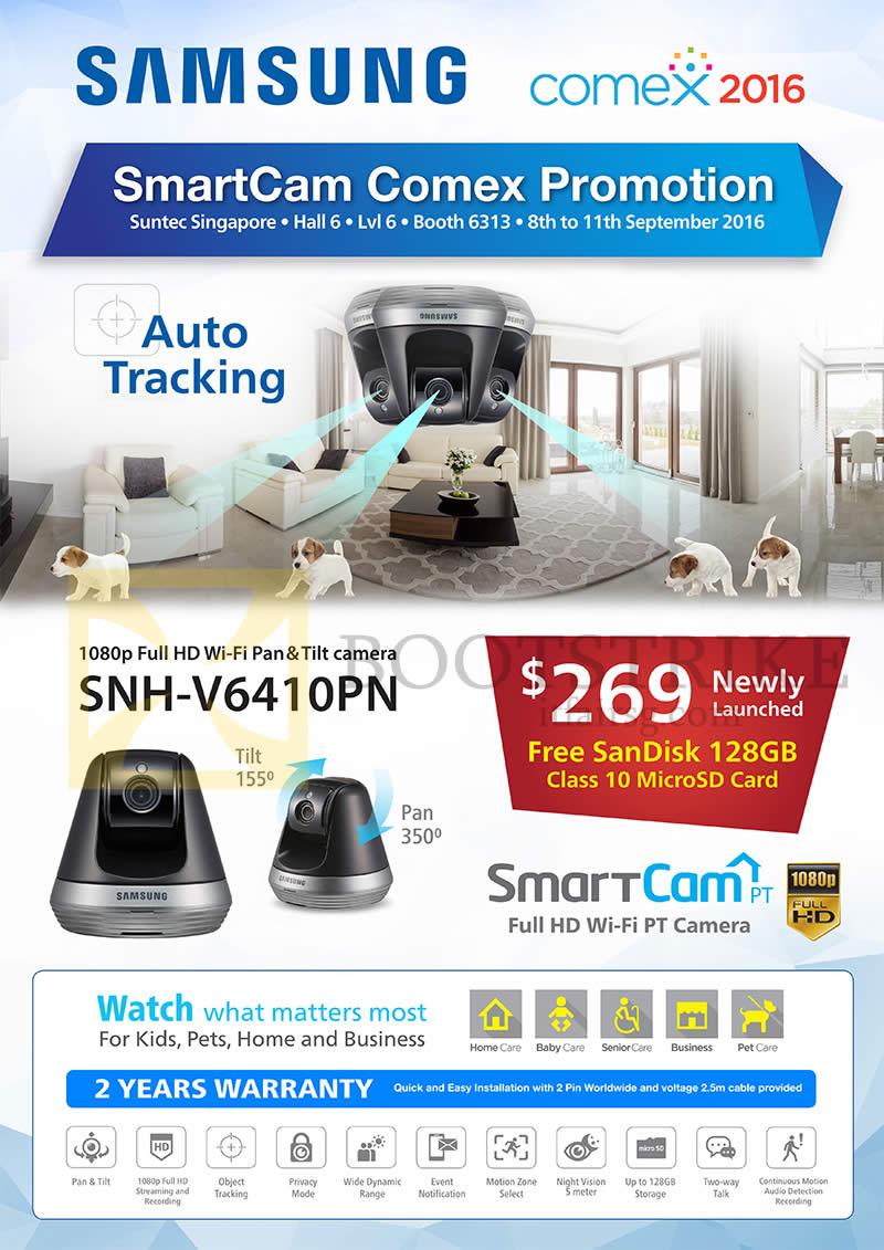 COMEX 2016 price list image brochure of Convergent Samsung SmartCam SNH-V6410PN