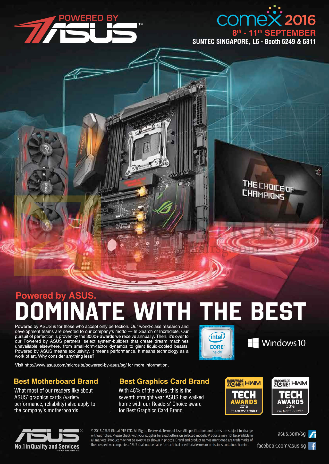 COMEX 2016 price list image brochure of Cybermind Powered By ASUS
