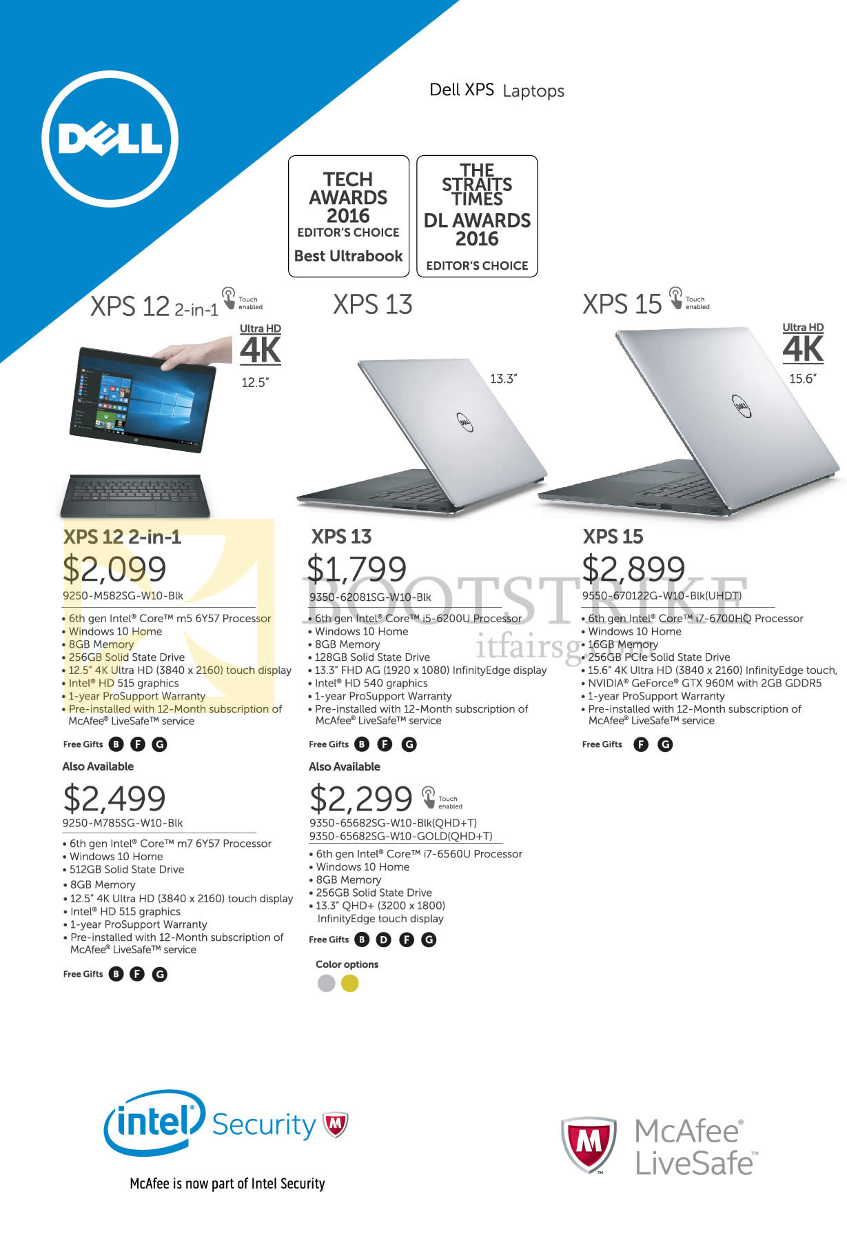 COMEX 2016 price list image brochure of Dell Notebooks XPS 12, 13, 15 Series