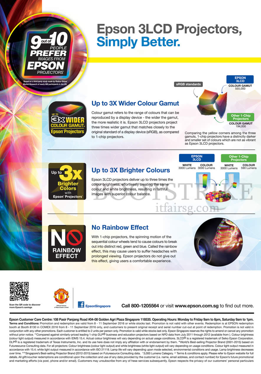COMEX 2016 price list image brochure of Epson 3LCD Projectors Features