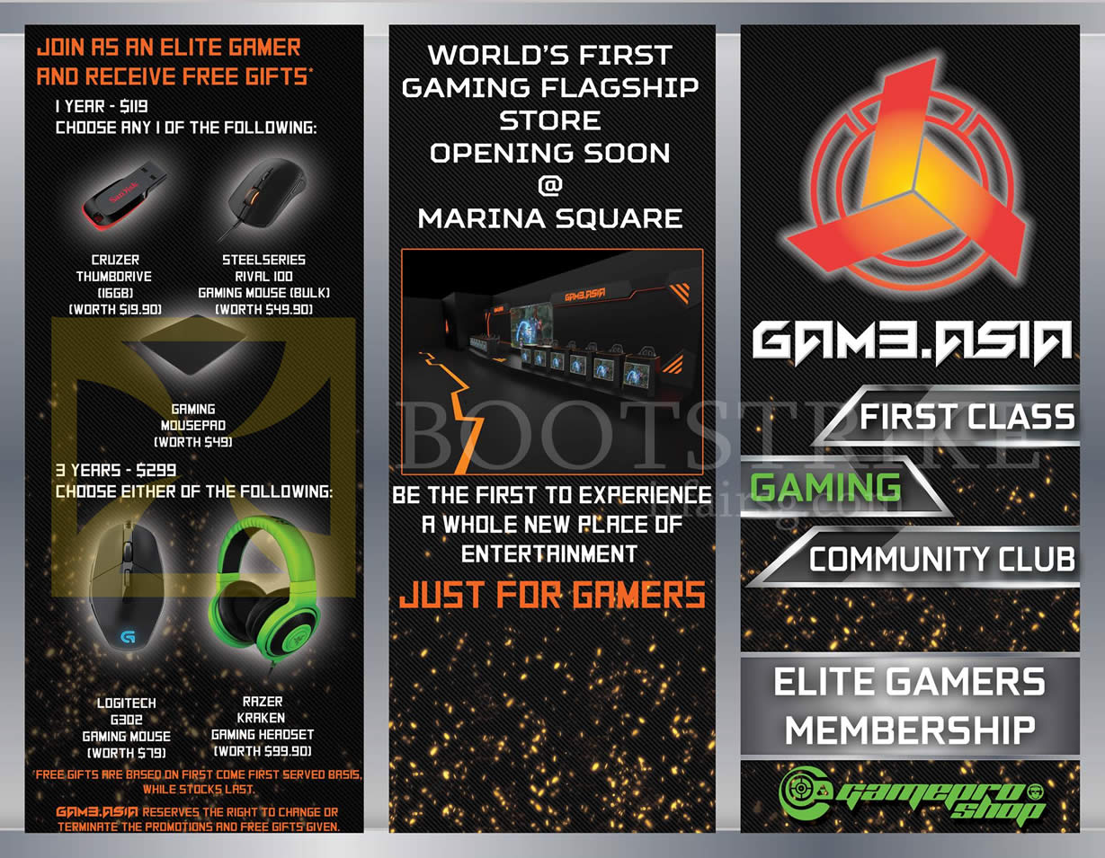 COMEX 2016 price list image brochure of GamePro Elite Gamer Membership Free Gifts Thumbdrive, Mouse, Mousepro, Gaming Mouse, Headset