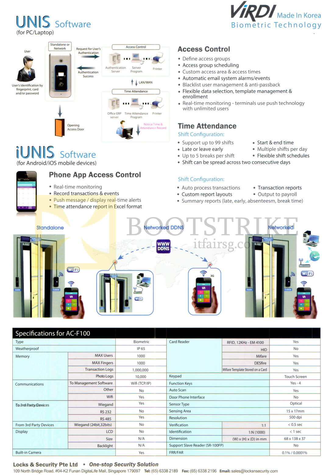 COMEX 2016 price list image brochure of Hanman Virdi Unis Software IUnis, AC-F100 Features