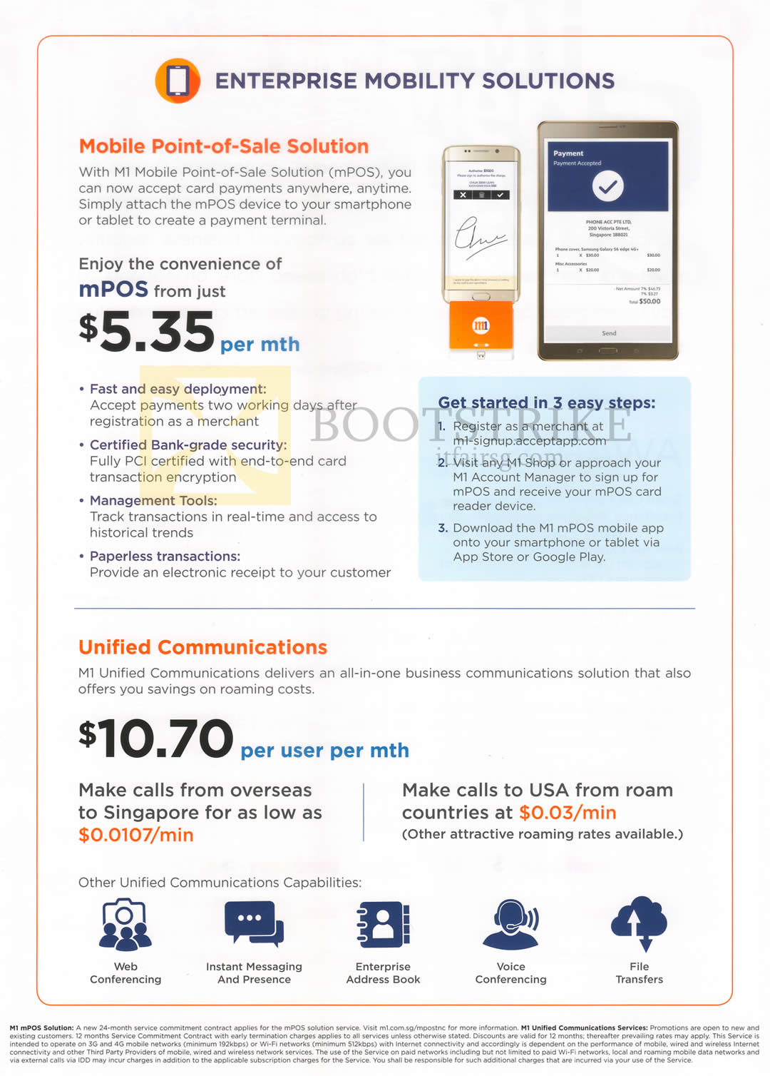 M1 business enterprise mobility solutions unified communications comex 2016 price list image brochure of m1 business enterprise mobility solutions unified communications colourmoves