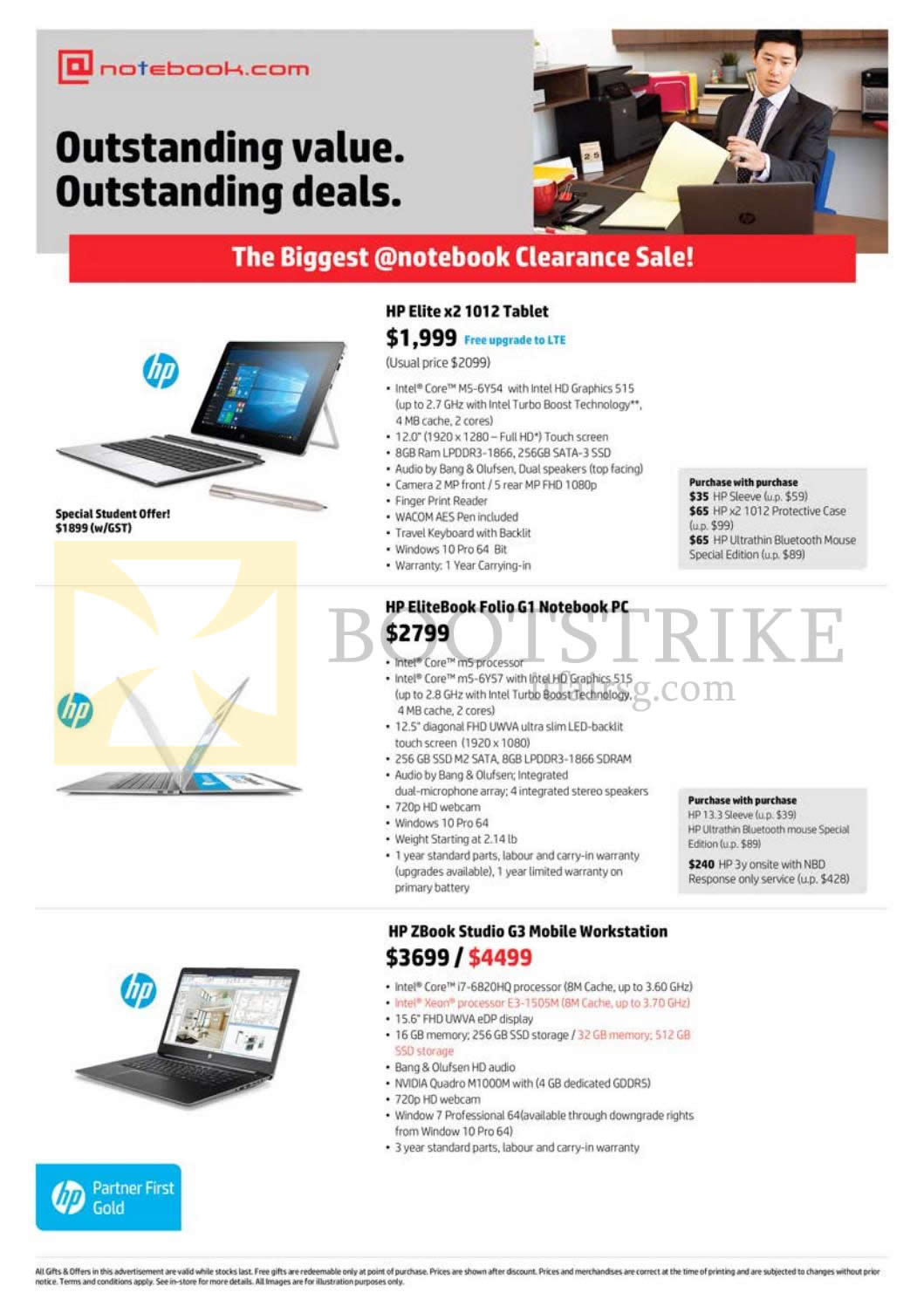 COMEX 2016 price list image brochure of Newstead Notebook.com HP Notebooks Elite X2 1012 Tablet, Elitebook Folio G1 Notebook, ZBook Studio G3 Mobile Workstation