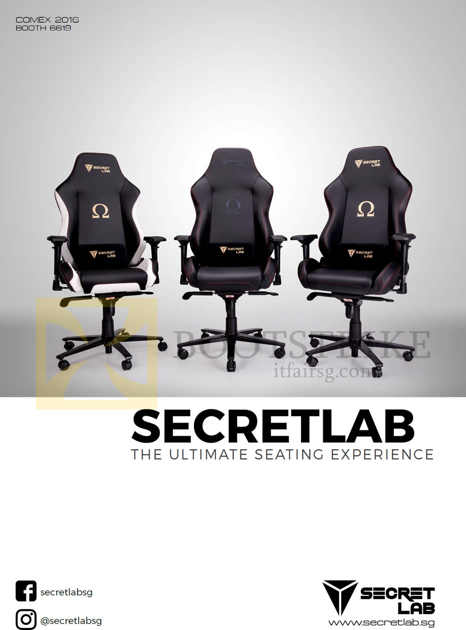 COMEX 2016 price list image brochure of Secretlab Chairs Cover, Ultimate Seating Experience