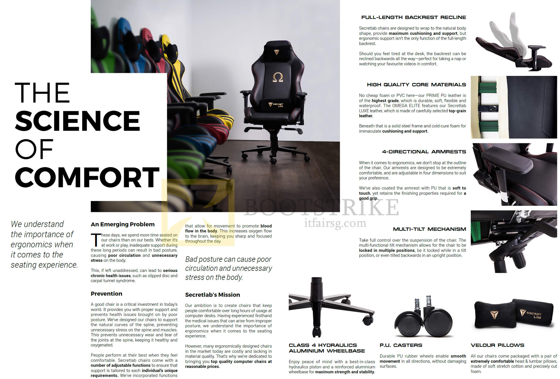 COMEX 2016 price list image brochure of Secretlab Chairs The Science Of Comfort